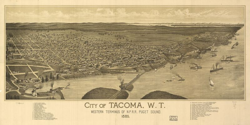 11 birds eye view of tacoma 1885