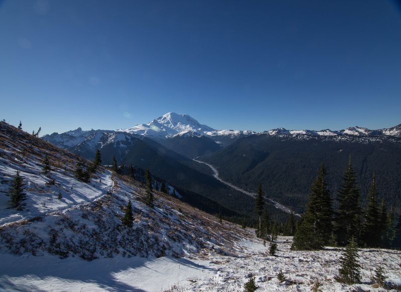 A wide angle view of mt rainier with trail 2 (1 of 1)