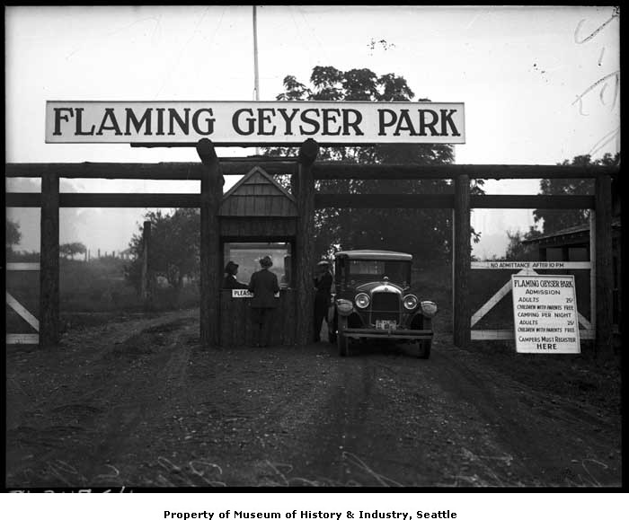 Flaming geyser