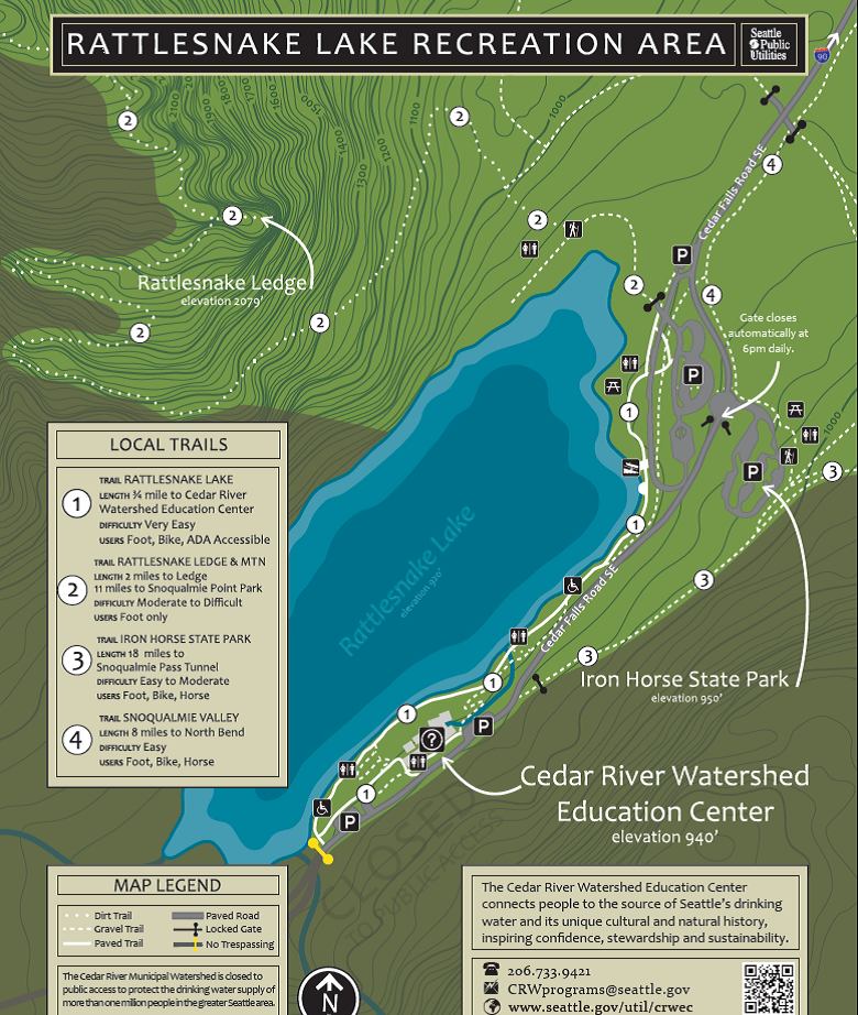 Rattlesnake lake rec area map