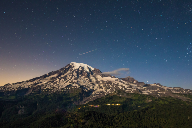 Meteor Over the Mountain 1