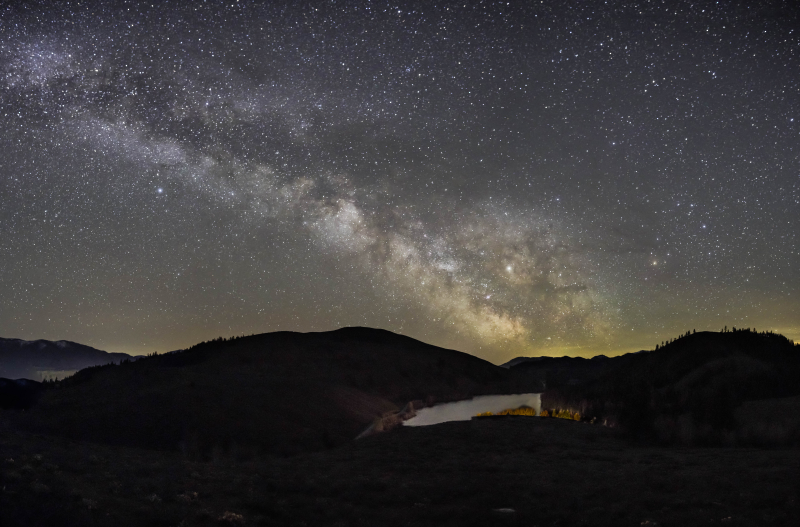 Milky Way Over Lake Patterson from Lodge 5
