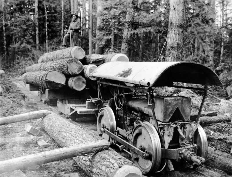 Gas powered logging Truck