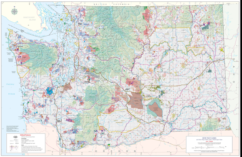 State trust lands map