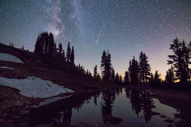 Milky Way & Meteor Reflections 2