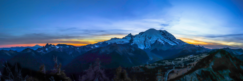 Dege Peak Sunset 48 x 16