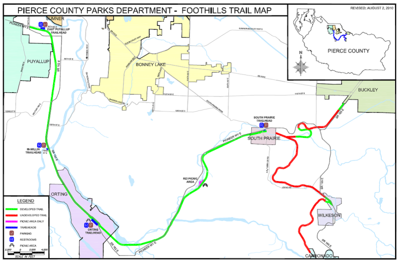 Foothills trail map 2