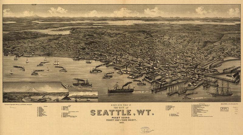 11 birds eye view of seattle 1884