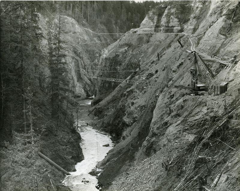 Mud mountain dam construction 2