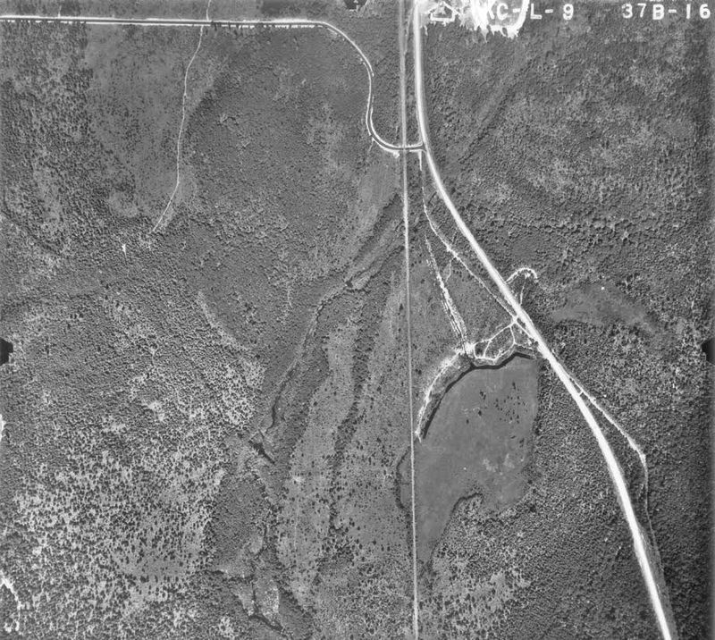 1959 aerial view of peat bog