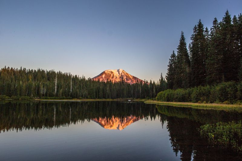 Mt. Adams from Olallie Lake