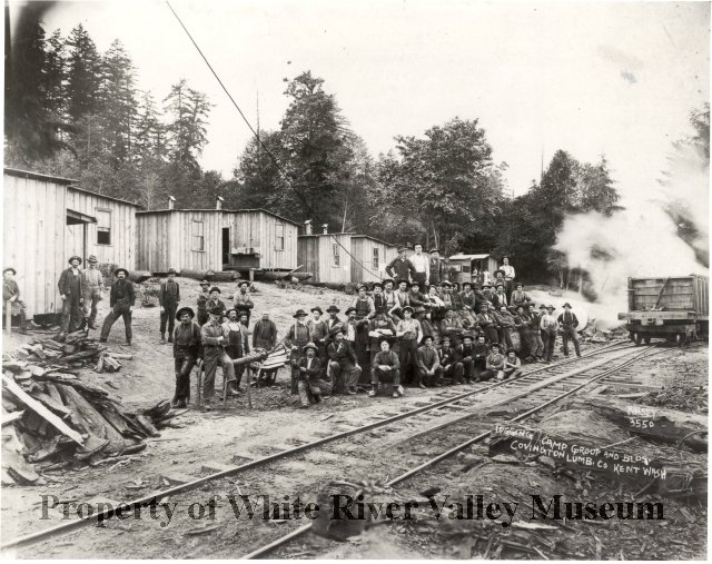 Covington lumber logging camp