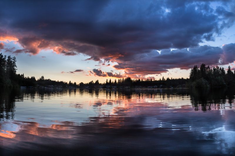 End of Sunset Color Reflections Panorama (1 of 1)
