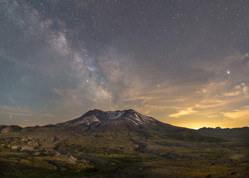 Milky Way Over the Mountain 1a-
