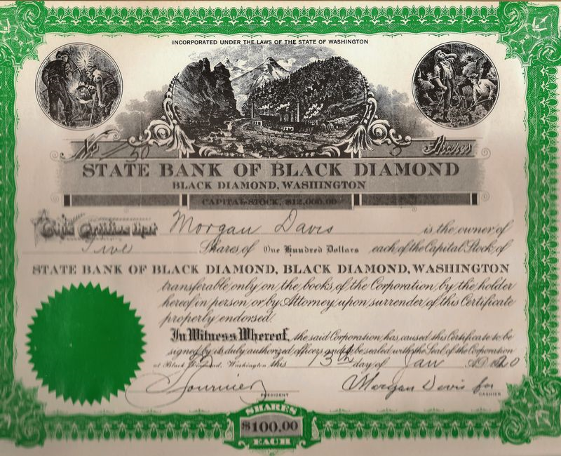 State bank of black diamond