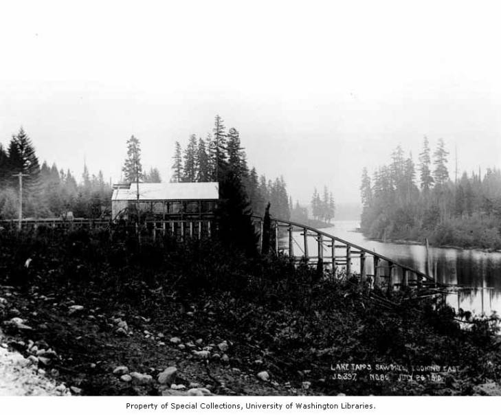 Lake tapps sawmill under construction