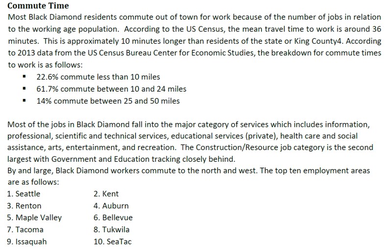 Bd commute times and locations