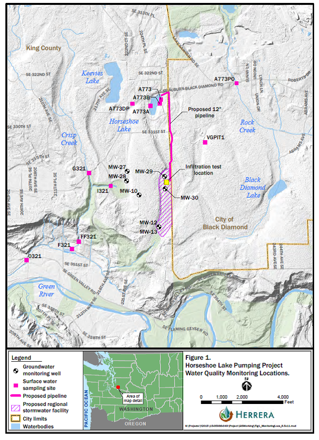 Horseshoe lake pumping plan